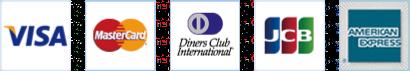 クレジットカードロゴ(VISA/MasterCard/Diners/JCB/AMEX)