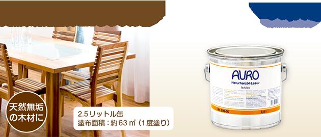 自然塗料 AURO(アウロ) No.130 2.5リットル缶